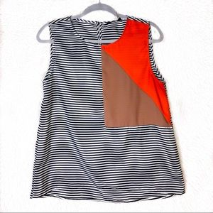 Anthropologie THML Striped Geometric Print Tank